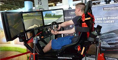 racing simulator cockpit